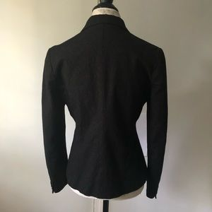 Barneys New York Jackets & Coats - Barneys New York Black Velvet Blazer Double Button